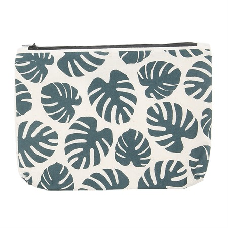 Canvass Pouch Monstera Green