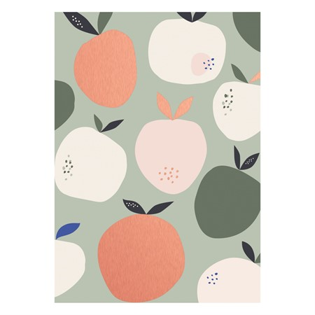 Apples Rose Gold Postcard