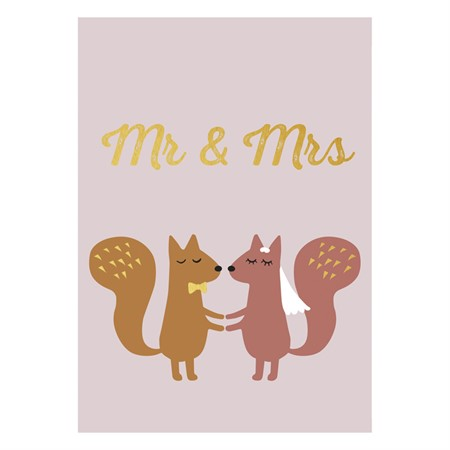 Mr. & Mrs. Gold Postcard