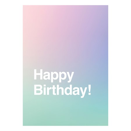 Happy Birthday Gradient Postcard