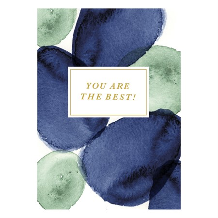 You are the Best Watercolor Postcard