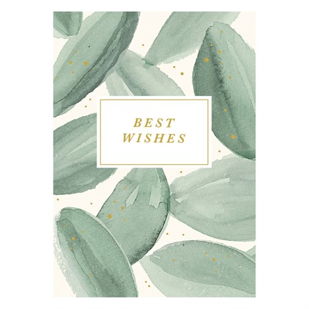 Best Wishes Water Color Postcard