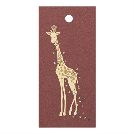 Presentetikett Jul-giraff