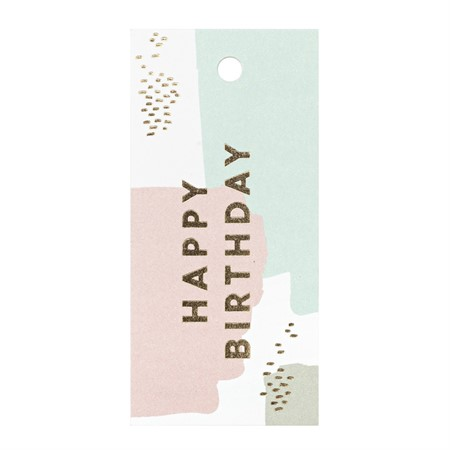 Happy Birthday Paint Spatters Gift Tag