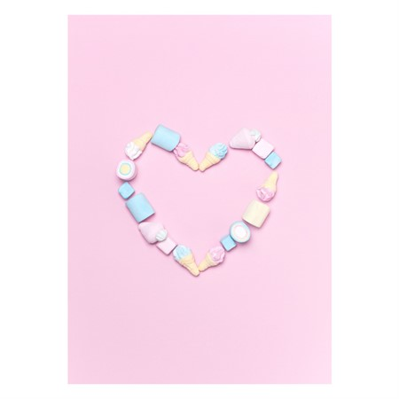 Candy Heart Poster