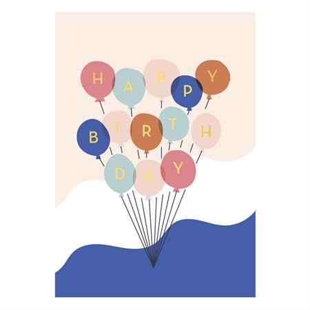 Happy Birthday Balloons Postcard