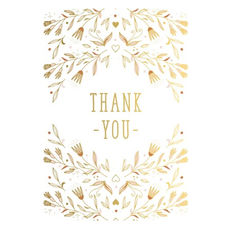Thank You Flowers Postcard