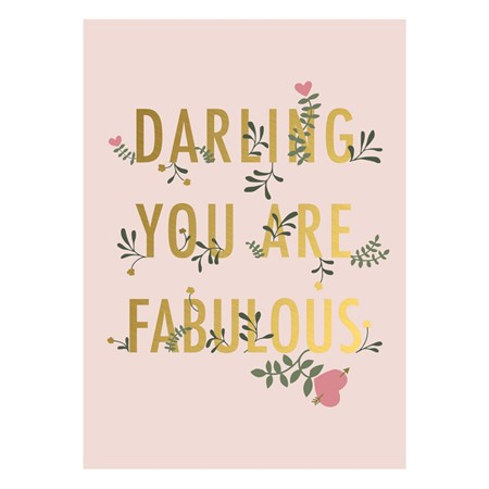 Darling You are Fabulous Postcard