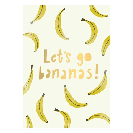 Let's Go Bananas Postcard