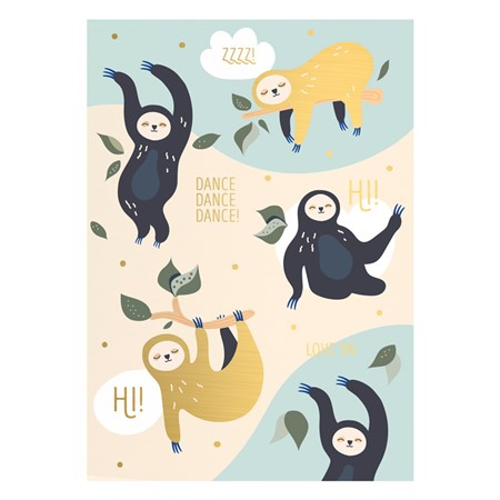 Dancing Sloth Postcard