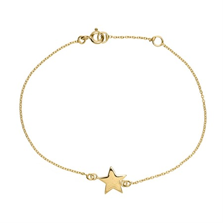 Bracelet Star Sterling Silver with Gold Plating