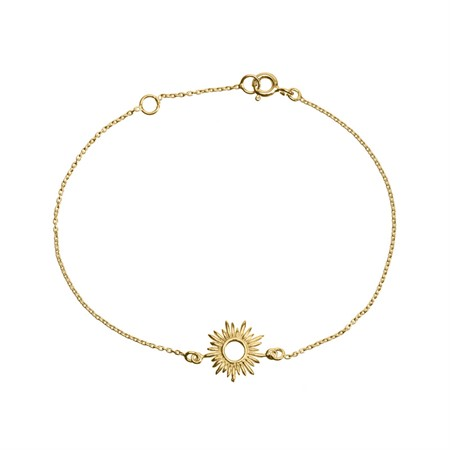 Bracelet Sun Sterling Silver with Gold Plating