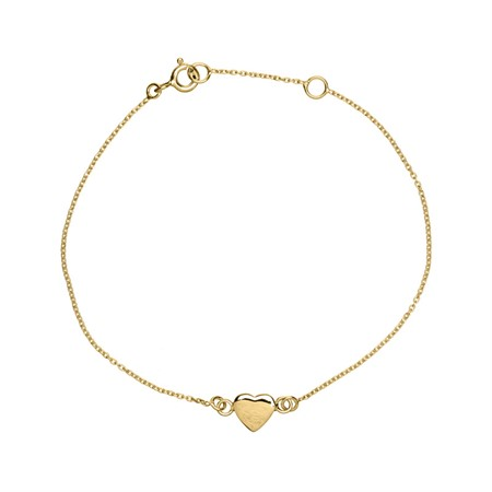 Bracelet Heart Sterling Silver with Gold Plating