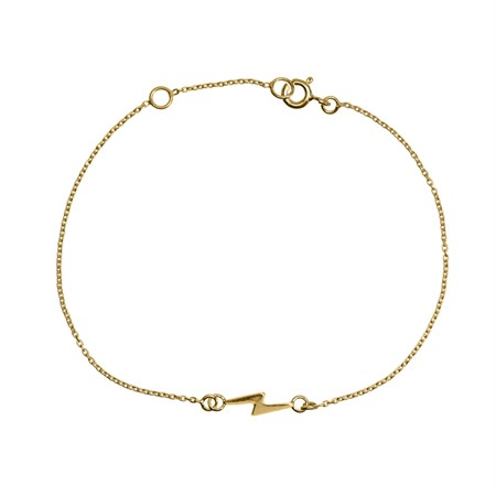 Bracelet Lightning Sterling Silver with Gold Plating