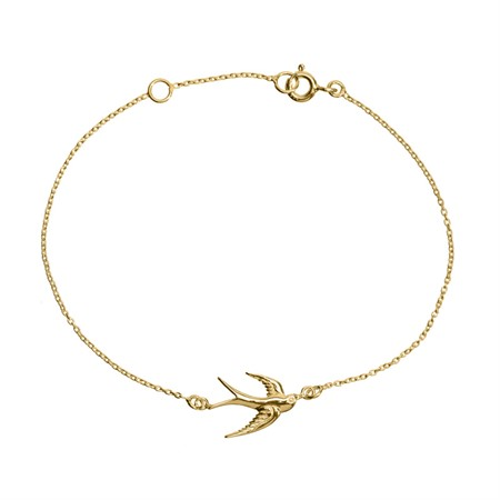 Bracelet Swallow Sterling Silver with Gold Plating