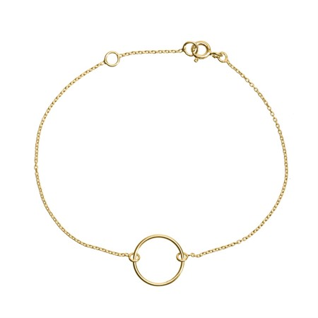Bracelet Circle Sterling Silver with Gold Plating