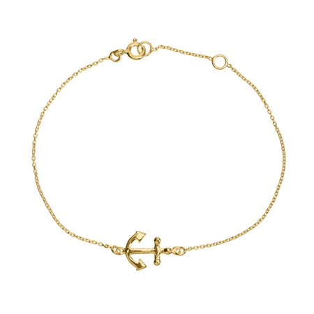 Bracelet Anchor Sterling Silver with Gold Plating