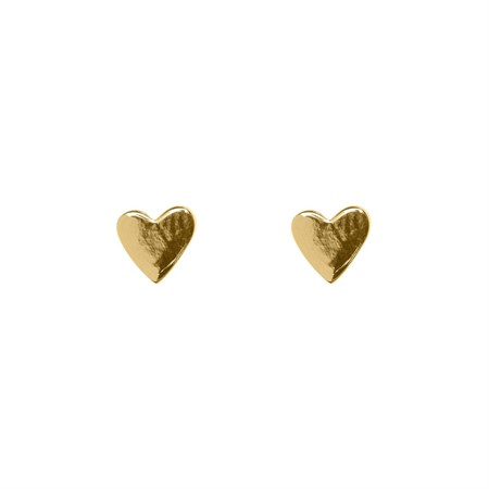 Earrings Hearts Sterling Silver with Gold Plating