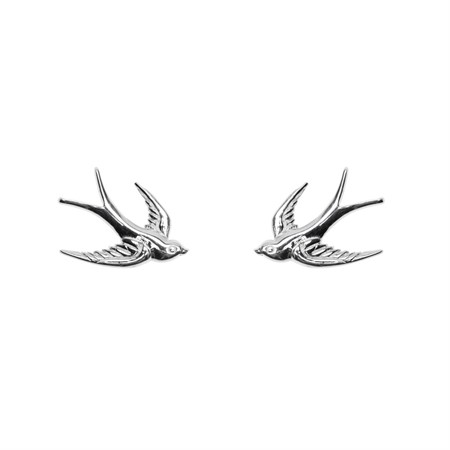 Earrings Swallow Sterling Silver