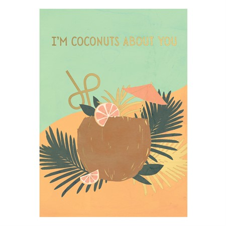 Postcard I'm Coconuts About You