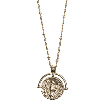 Long Necklace Coin Gold