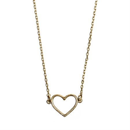 Necklace Heart Outlined Gold
