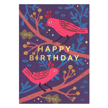 Birds Happy Birthday Postcard