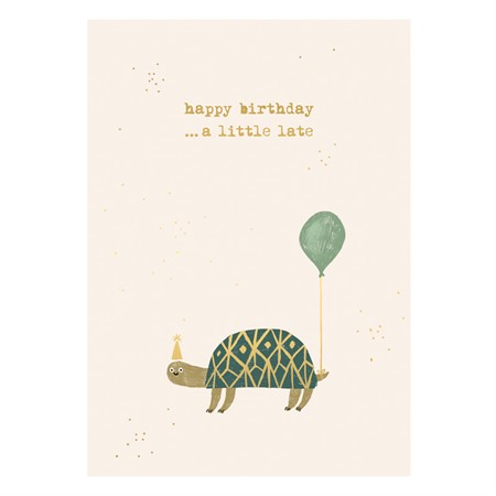 Happy Birthday Turtle Postcard