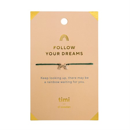 Follow Your Dreams Rainbow  Armband