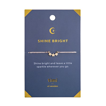 Shine Bright Three Star  Armband