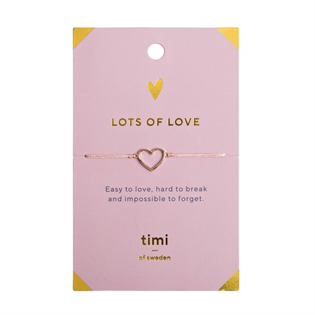 Lots of Love Heart Outline Armband